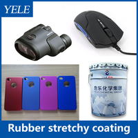 Rubber stretchy paint for coating