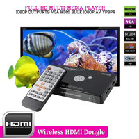 Newest Mini Full HD Media Player 1080P With 4 Outputs VGA AV YPbPr Converter Digital Multimedia Player Tv Box