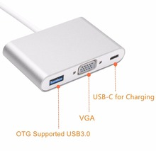 USB Type C to VGA Adapter with USB 3.1 C Charging port