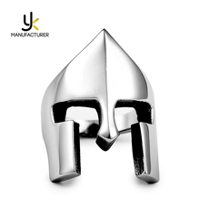 Popular Movies Jewelry Stainless Steel Material Silver Color Lord Of The Rings Helmet
