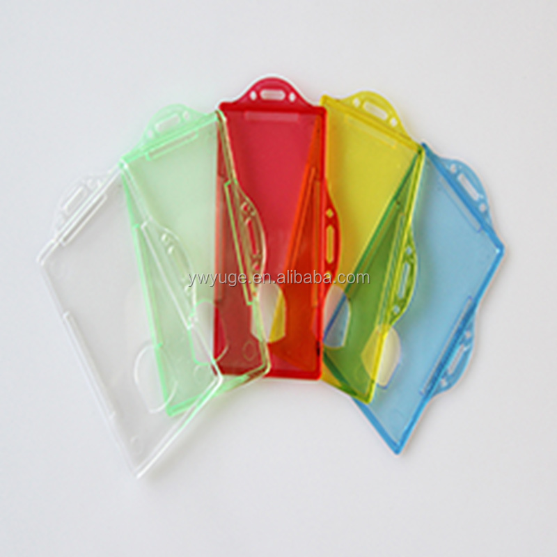 Plastic card holder,Clear plastic ID Card Sleeves