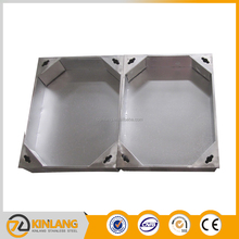Non-standard concrete manhole cover with stainless steel material