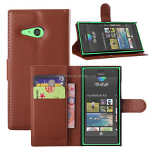 Cheap phone cases for nokia lumia 730 wallet flip leather case