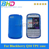 Clear S Shape Line TPU Soft Case Cover For blackberry Q10 ,silicone rubber case