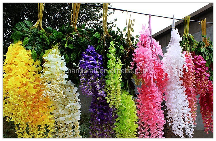 white Artificial wisteria, Artificial Wedding Wisteria,Single Stem Cheap Wisteria