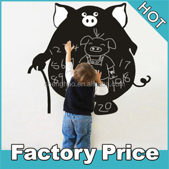 custom design children self adhesive chalkboard sticker