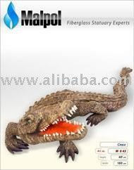 Art. No. M 043 Fiberglass Crocodile