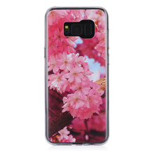 hot selling print sakura flower custom ultra thin phone case For for Samsung galaxy S8 plus