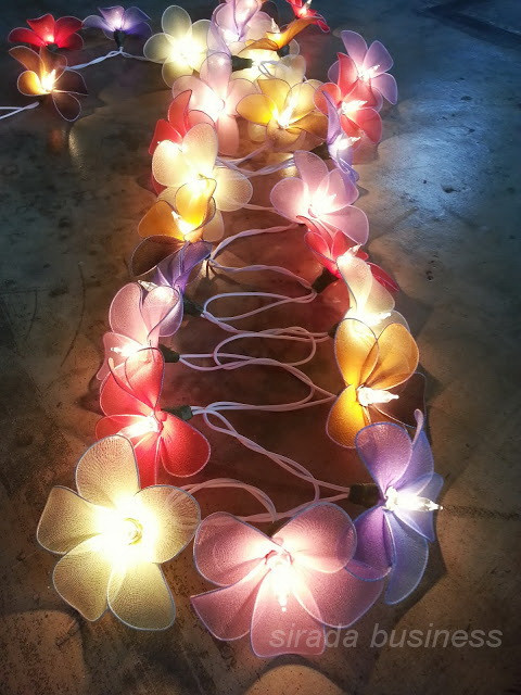 String light frangipani nylon flowers home decor