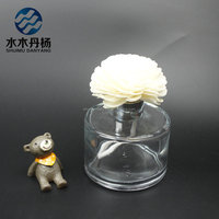 200ml cylinder aroma glass reed diffuser bottle with sola flower & rattan sticks