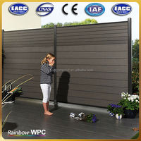 WPC Factory wpc fence/wpc panel/wood plastic composite fence panels