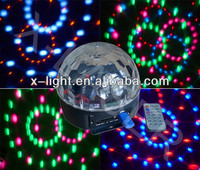 Multi-functional LED six color disco dj ball light with MP3 +Remote control+radio