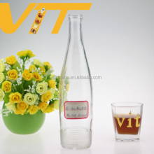 High clear imported russian vodka bottle liquor bottle wholesale clear drinking bottle