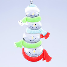 new style christmas decoration Four Snowmen Together ornament