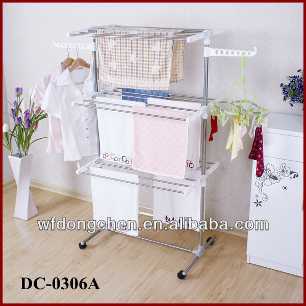 DC-0306A height-adjustable folding clothes rack