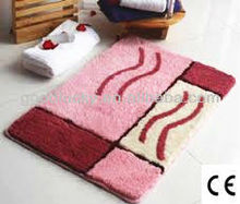Home decoration gift 3 piece set,bath mat set polyester floor mat ,polyester mat