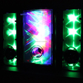 New 3D Magic LED Glowing Flashing 2.1 channel Subwoof Speaker