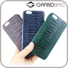 custom oil painting embossed ostrich leg leather phone case mobile cover for iphone 6/7/plus