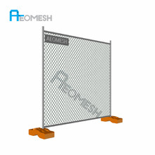 Welded temporary fence panel