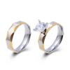 Fake Gold 18K Single Stone Latest Wedding Ring Set Design Ring Jewelry Woman