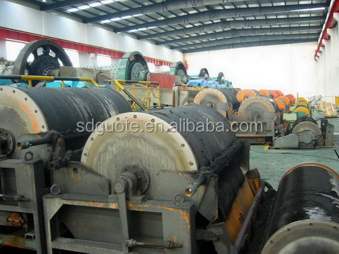 Wet Drum Dewatering and Condensing Permanent Magnetic Separator for iron ore mining processing