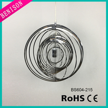 2016Canton Fair Light Modern ball silver hurricane Pendant Lamp round bookpage cage style Stainless Steel Decorative Lighting
