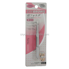 Private label tweezers professional cosmetic eyebrow slanted tweezers