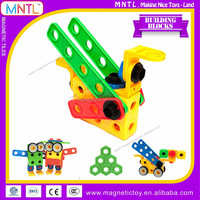MNTL-85 Piece Educational Construction Engineering Building Blocks Set Plastic Connecting Toys For Toddlers Preschoolers