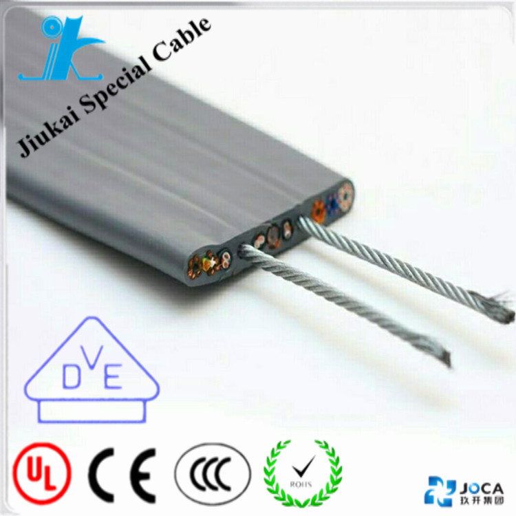 Flexible 3 in 1 cctv elevator cable