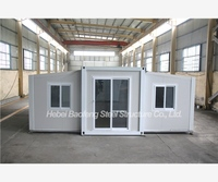 10mins less portable emergency cold area expandable container house