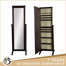 Custom storage full length stand floor mirror jewelry cabinet