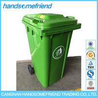 240 liters plastic commercial square garbage can,plastic outdoor garbage bin,plastic garbage bin