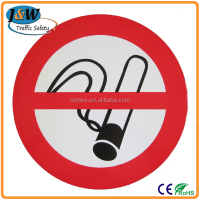 Aluminium Traffic Prohibition Sign / No Smoking Warning Sign