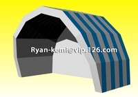 Free shipping 8mWx5mH blue white inflatable stage tent cover custom inflatable tent inflatable outdoor events tent