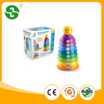 Plastic Baby products Early Education Intelligent toy Stack Cup