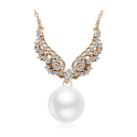 OUXI Fashion New Design Long Imitation Pearl Necklace