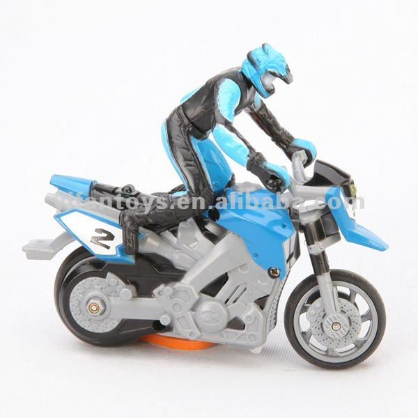 1:43 Scale Infrared Remote control Toys 4CH Electric Mini RC Stunt Motorcycle with Lights