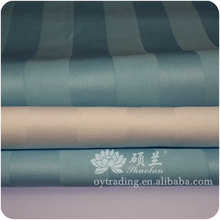 Eco-friendly bleached rainbow stripe cotton fabric