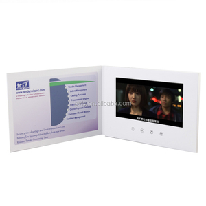 invitation lcd usb digital video player brochure greeting cards for happy holiday