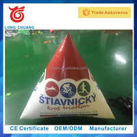 Longchuang Triangle Shaped Balloon, Inflatable Floating Buoy, Water Mark With logo printing