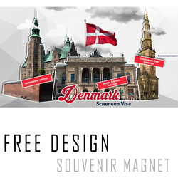 Denmark city state souvenir Fridge Magnet for