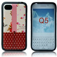 for blackberry Q5 TPU rainbow case