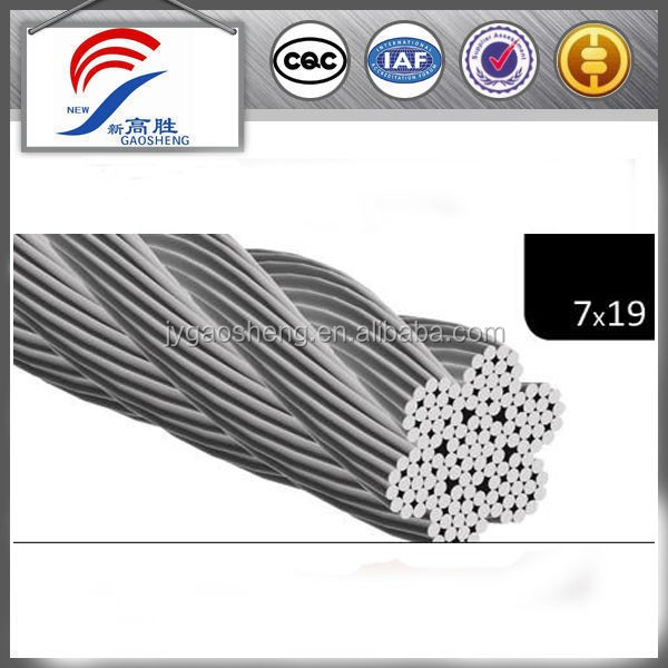 12mm 7x19 Stainless Steel Wire Rope 316 Marine Grade Stainless Steel Cable