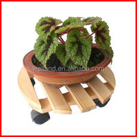 Wooden Plant Caddy, Garden Planter Stand