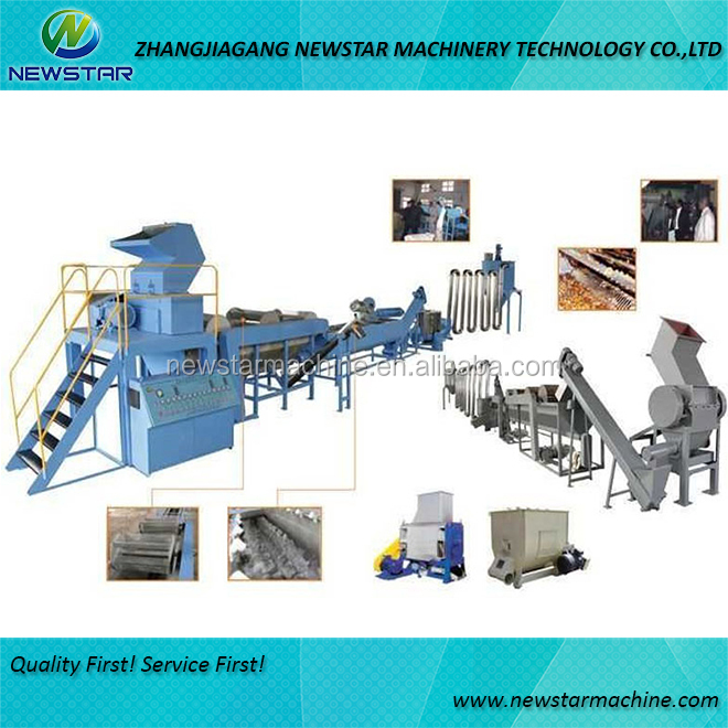 Building machinery equipment to recycle PE PP film plastic waste used in recycle washing line