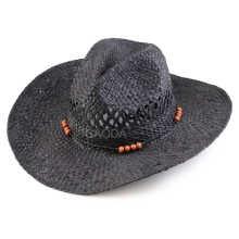 wholesale raffia folding flat top cheap mens straw cowboy boater hat for sale