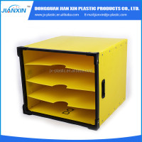 pp plastic folding corrugated fuit packing turnover box