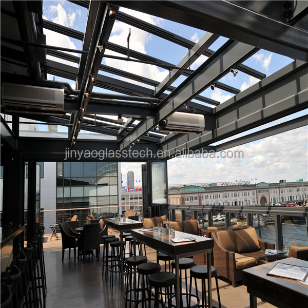 Jinyao retractable, sliding glass roof price