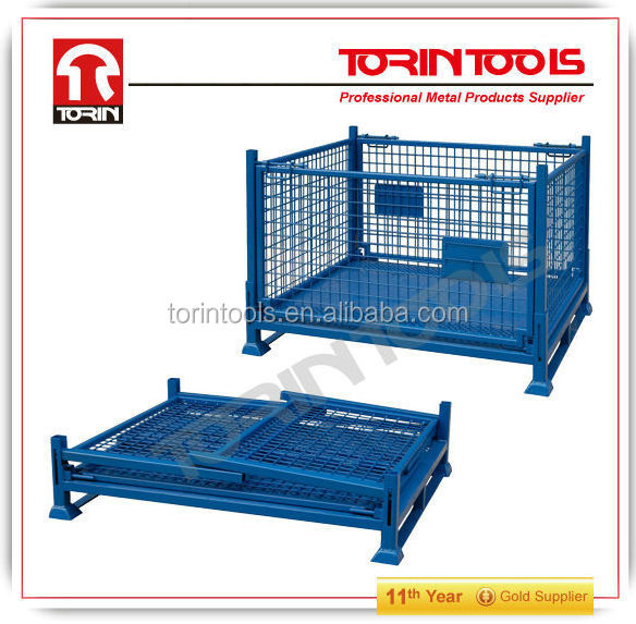 Industrial 500kg Warehouse Rolling Steel Storage Cargo Roll Cage