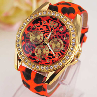 Promotional Price Hot Sale Geneva Watch for Lady